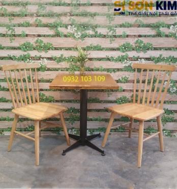 Bàn Ghế Cafe Gỗ BGC35