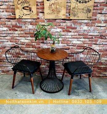 Bàn Ghế Cafe Sắt BGC112