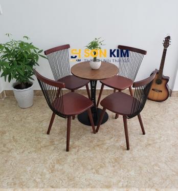 Bàn ghế quán cafe giá rẻ một bộ bàn ghế cafe đẹp với 4 ghế mã BGC102