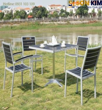 Bộ bàn ghế cafe nhập khẩu BGC01