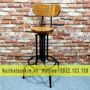 Bàn ghế cafe khung sắt BGC119