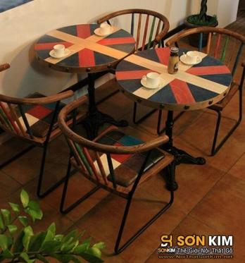 Mẫu bàn ghế cafe giả cổ BGC28