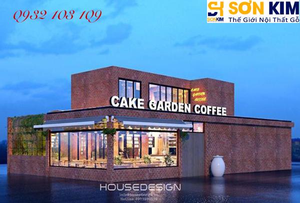 Hình 1: Bàn ghế cafe tại quán Cake Garden Coffee