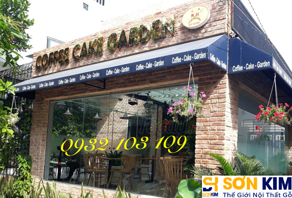 Hình 26: Bàn ghế cafe tại quán Cake Garden Coffee