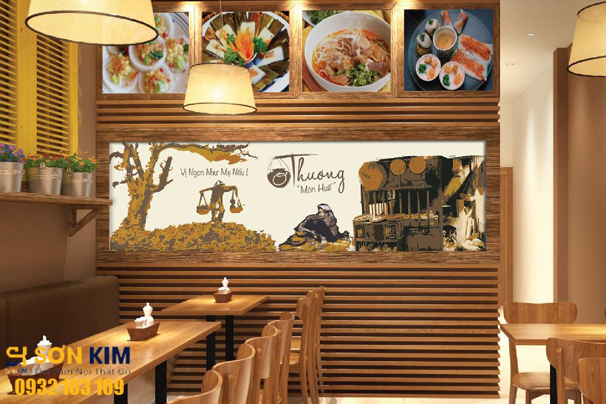 Hình 5: Bàn ghế nhà hàng tại Nhà Hàng Ơ Thương
