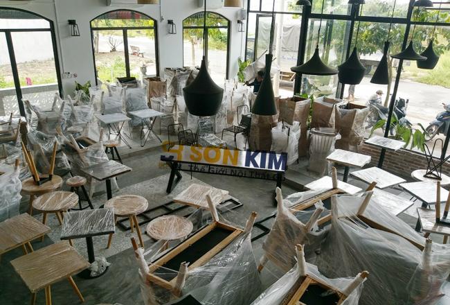 bàn ghế cafe royal