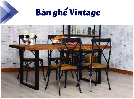 Bàn Ghế Vintage Chất Lượng Cao Giá Rẻ Tại TPHCM 1