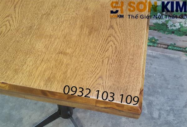 mặt gỗ của bàn cafe bc02