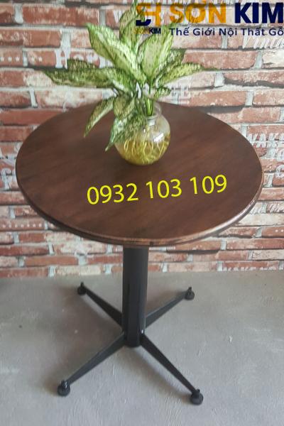 ban cafe bc04 mặt gỗ tự nhiên