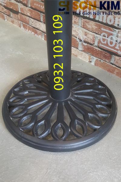 đế chân sắt bàn gỗ cafe bc07