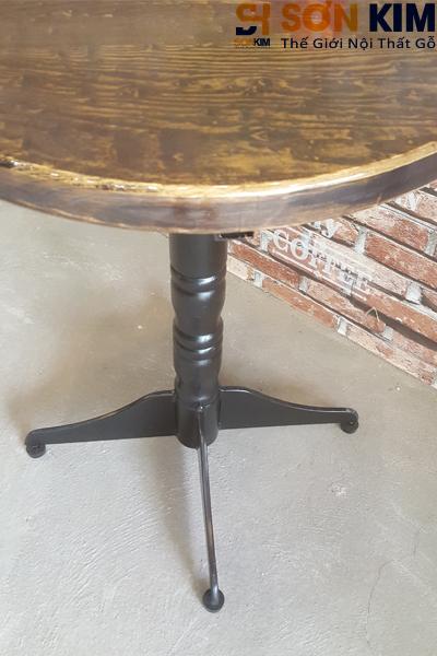 Mẫu bàn cafe gỗ chấn sắt giá rẻ hcm