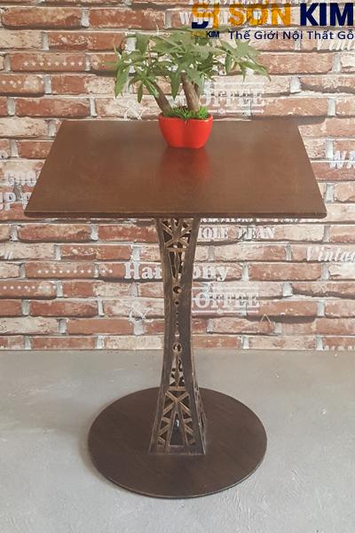 Mẫu bàn cafe gỗ khung sắt bc14