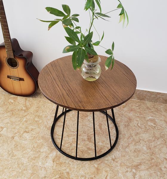 Bàn cafe gỗ mặt tròn BC35