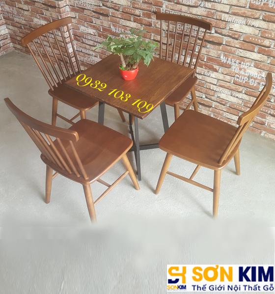Bàn Ghế Gỗ Quán Cafe BGC45