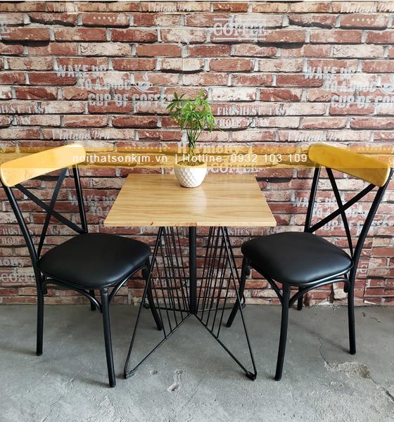 Bàn ghế quán cafe một bộ bàn ghế cafe đẹp với 4 ghế mã BGC105