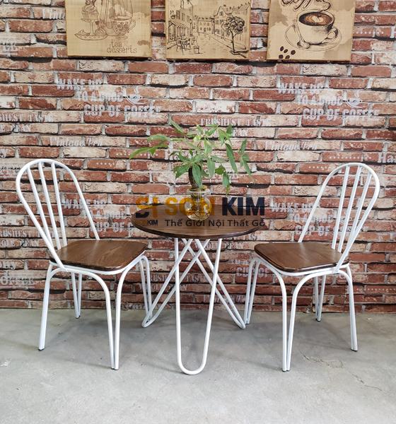 Bàn ghế quán cafe BGC77