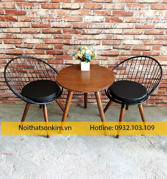 Bàn ghế cafe sắt ngoài trời giá rẻ   Bàn ghế cà phê sắt