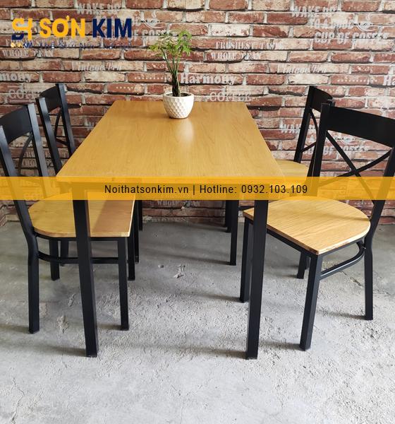 Mãu bàn ghế quán ăn BGA30