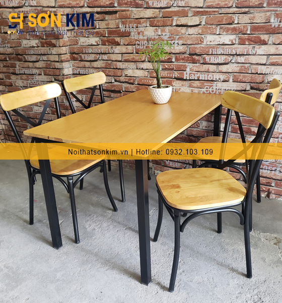 Mãu bàn ghế quán ăn BGA31