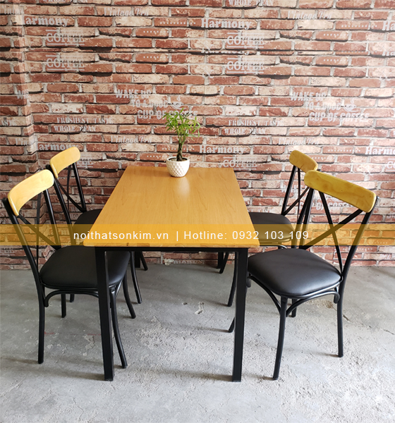 Bàn ghế quán ăn BGA32