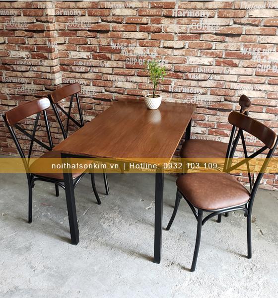 Bàn ghế quán ăn BGA33