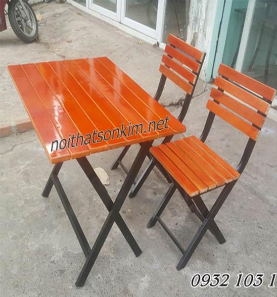 Bàn ghế xếp khung sắt BGA08