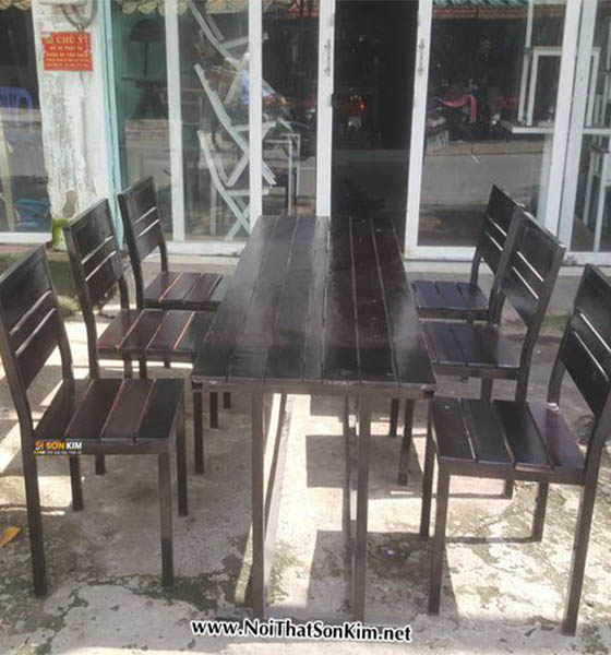 Bộ bàn ghế quán ăn BGA05