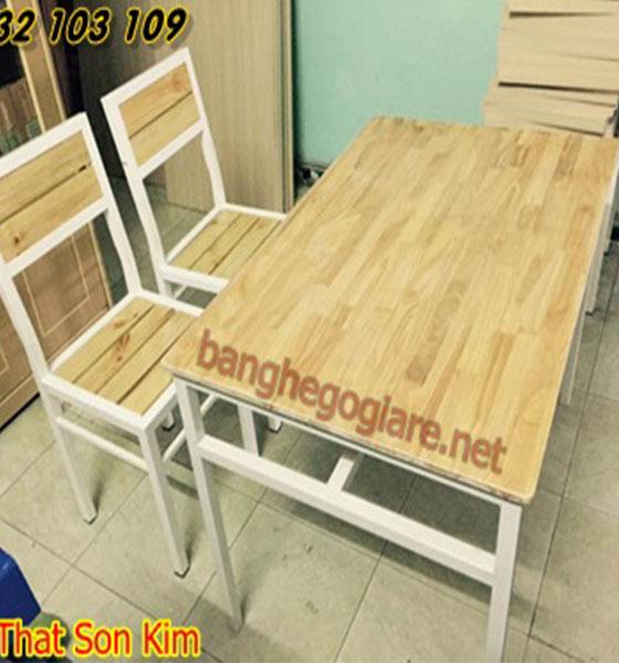 Bộ bàn ghế quán ăn BGA07