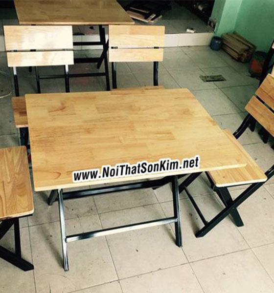 Xưởng sản xuất bàn ghế xếp quán ăn khung chân sắt giá rẻ nhất TPHCM