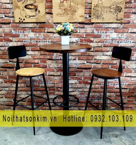 Bàn ghế cafe gỗ   Bàn ghế cà phê gỗ   Bàn ghế cà phê gỗ chân sắt   Bàn ghế cafe gỗ chân sắt