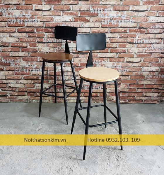 Ghế cafe sắt tròn dành cho quán cafe quán bar