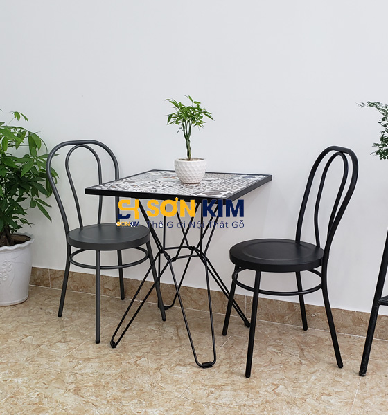 Mẫu bàn ghế cafe BGC96