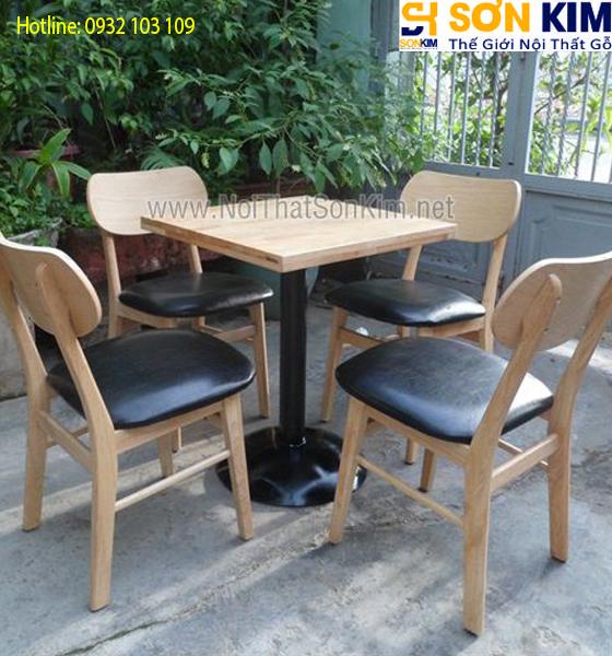 Bàn Ghế Cafe Gỗ BGC17