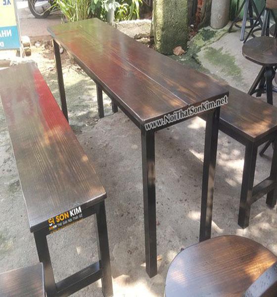 Bàn Ghế Cafe | Vintage Giả Cổ băng dài BGC14