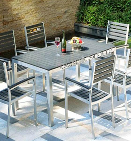 Mẫu bàn ghế nhà hàng nhập khẩu BNH10