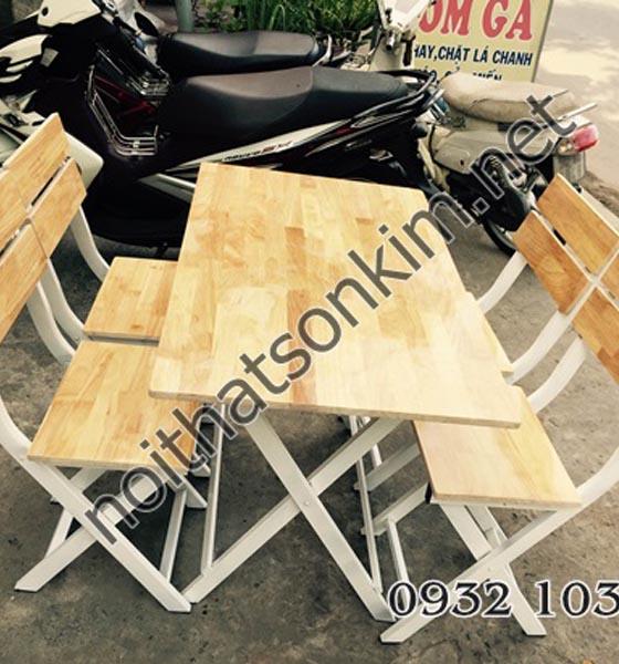 Xưởng sản xuất bàn ghế xếp quán ăn khung chân sắt