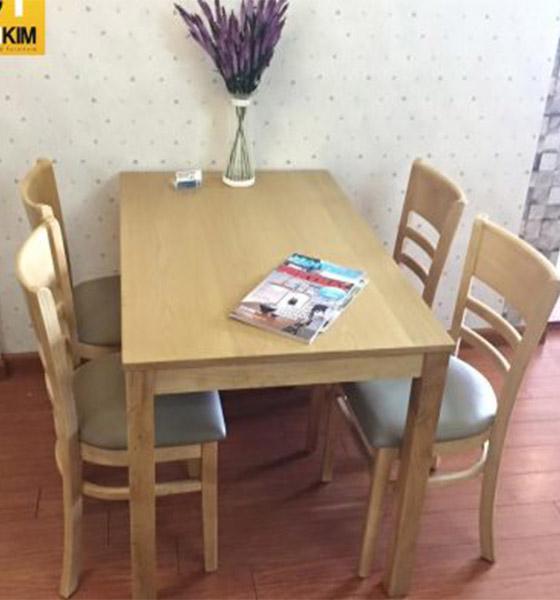 Bộ bàn khung sắt mặt gỗ BGA16 + ghế Eames